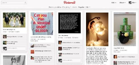 popular page on pinterest