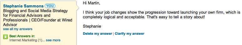 answering linkedin questions
