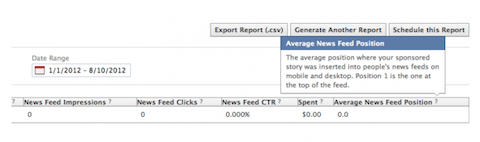 facebook sponsored stories metrics