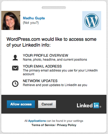 linkedin developer integration