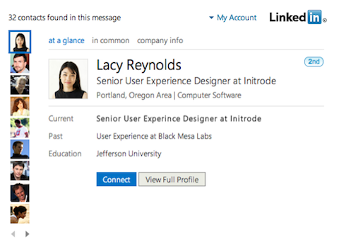 linkedin outlook app