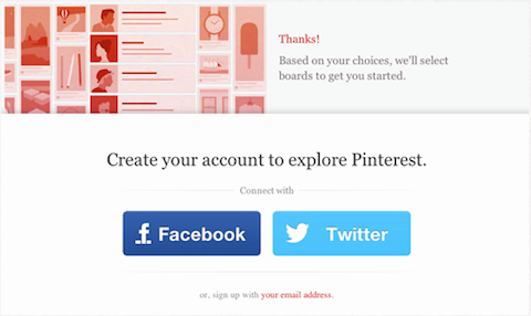 pinterest opens registration