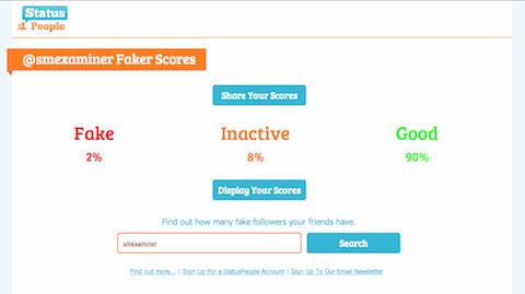 twitter faker score