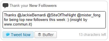 Commun.it New Follower Tweet