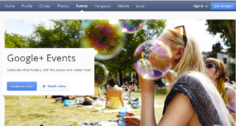 google+ events