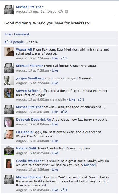 facebook breakfast question