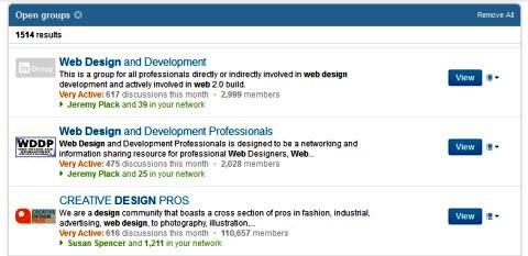 linkedin groups web design