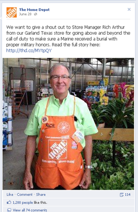 home depot employees