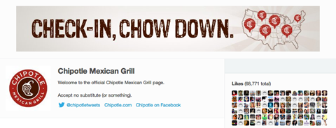 chipolte foursquare page