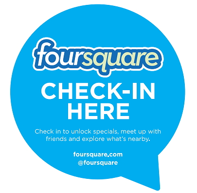 foursquare sign