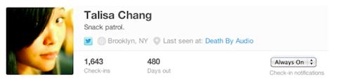 foursquare notifications