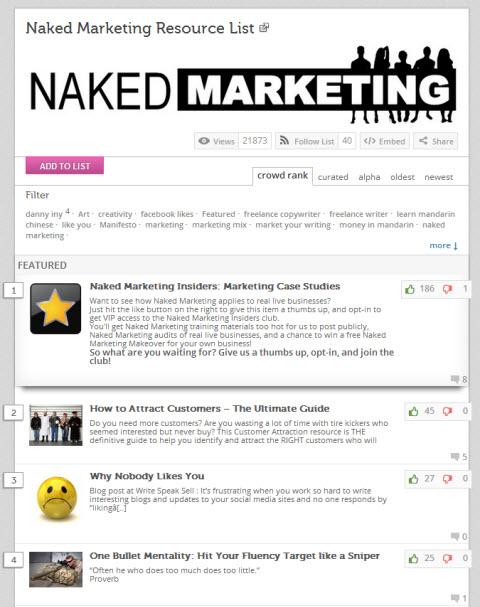 naked marketing example