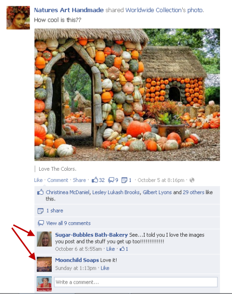 comment on other pages
