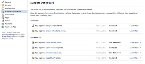 facebook-support-dashboard