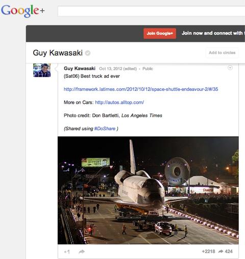 guy kawasaki google plus