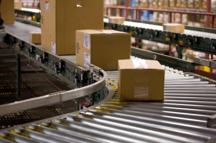 box shipping in a warehouse