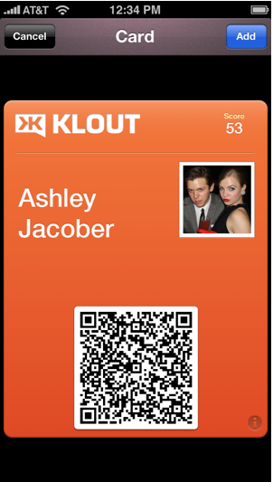 klout perks card