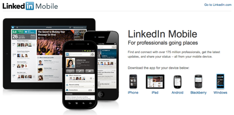 linkedin for mobile