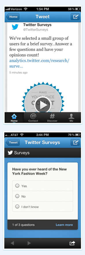 twitter surveys