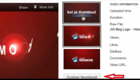 custom thumbnail button