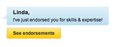 someone endorsed your skills