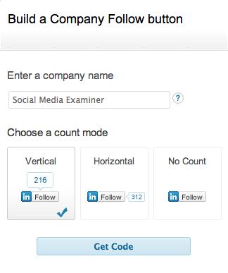 linkedin company widget