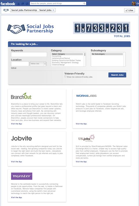 facebook job app