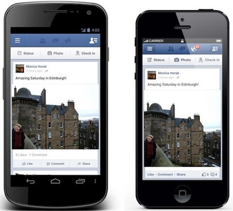 facebook mobile share