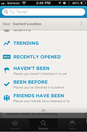 foursquare recently opened