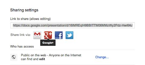 google+ on google drive