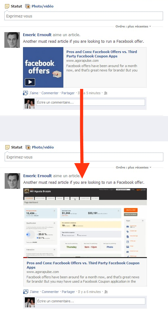 video sharing facebook offers