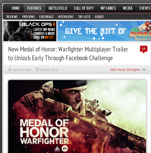 medal of honor facebook challenge
