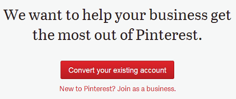 Pinterest business account ad