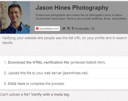 verify your website