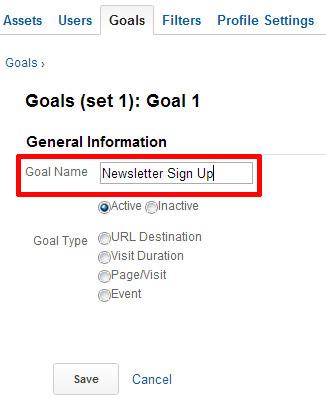 goal name