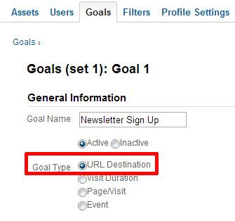 goal type