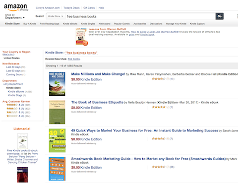 amazon free business books