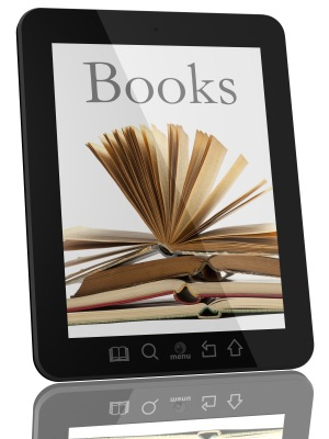 books on tablet