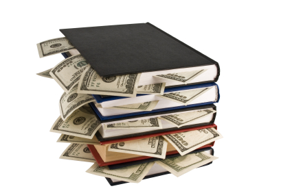 dollars in books