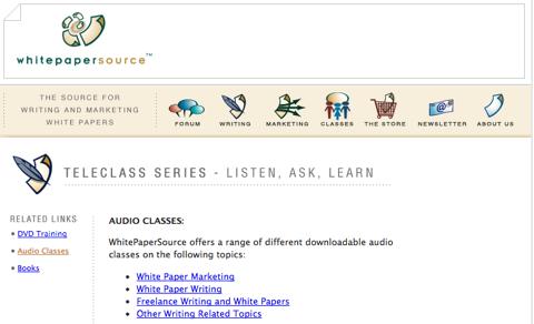 whitepaper source audio classes