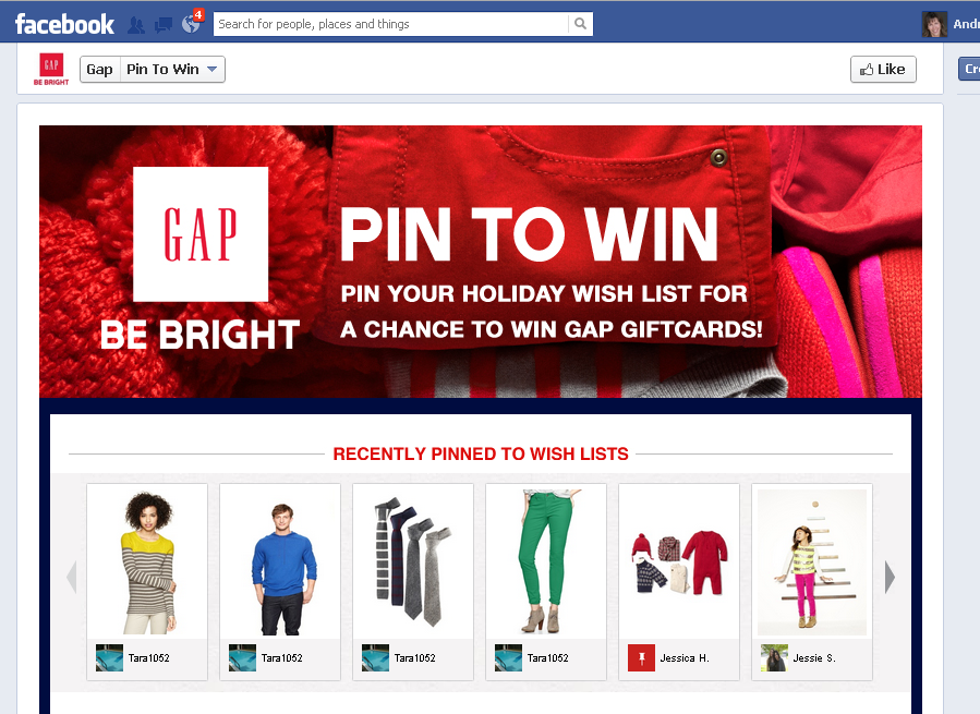 gap pin to win