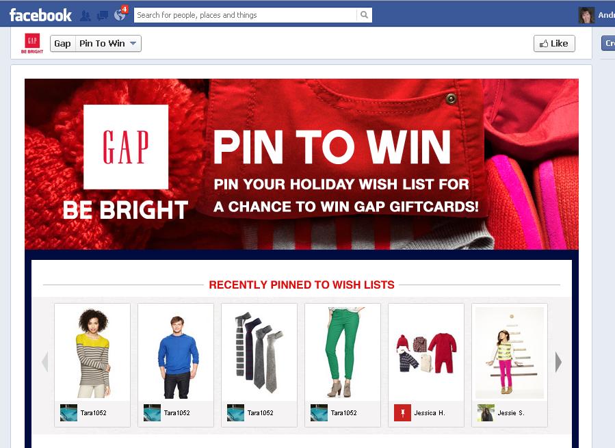gap pin to win