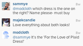 modcloth instagram comments
