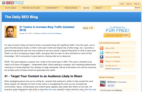 21 tactics to increase blog traffic