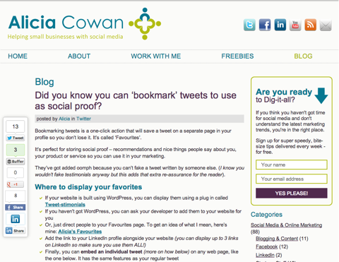 did you know you can bookmark tweets to use as social proof