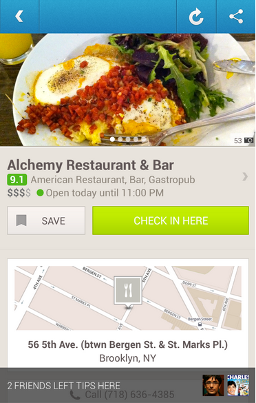 foursquare android update