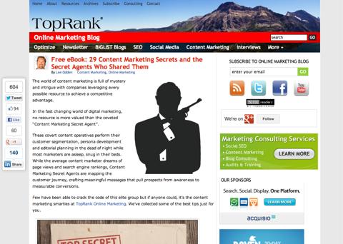 free ebook 29 content marketing secrets