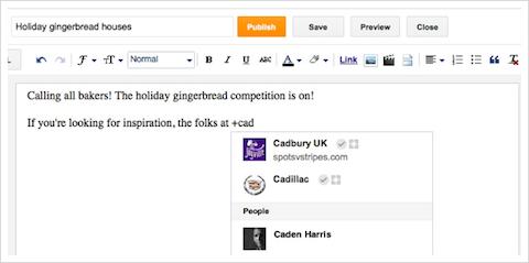 google+ integration with blogger