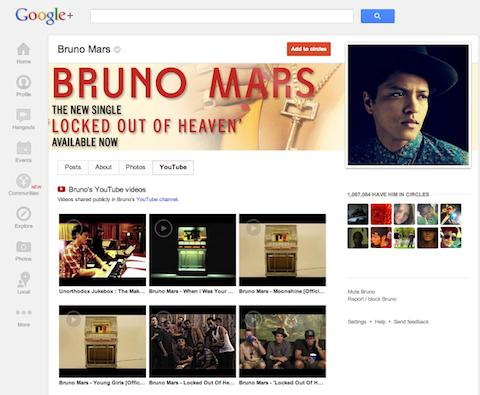 google+ youtube integration