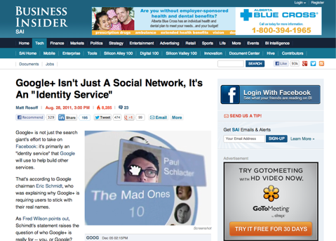 google plus isnt just a social network